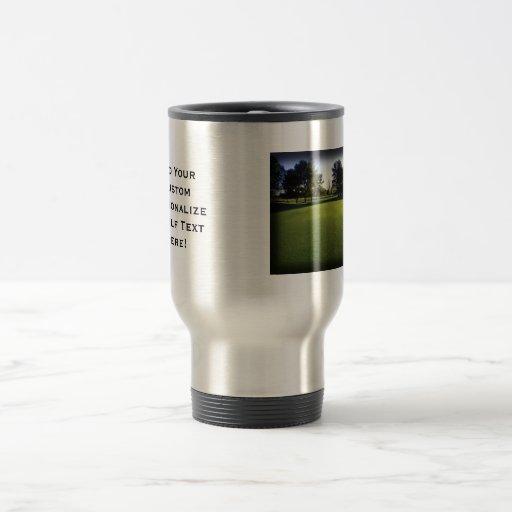 Green Golf Course at Dawn Coffee Mugs