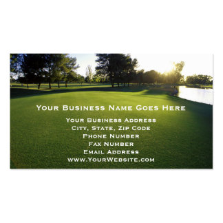 Green Golf Course at Dawn Pack Of Standard Business Cards