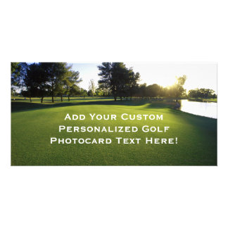 Green Golf Course at Dawn Photo Greeting Card