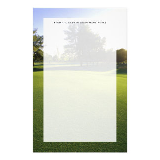 Green Golf Course at Dawn Customised Stationery