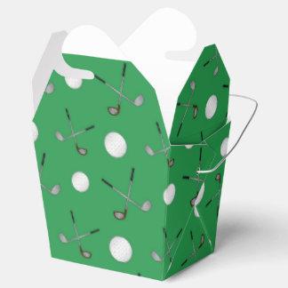 Green golf pattern favour box