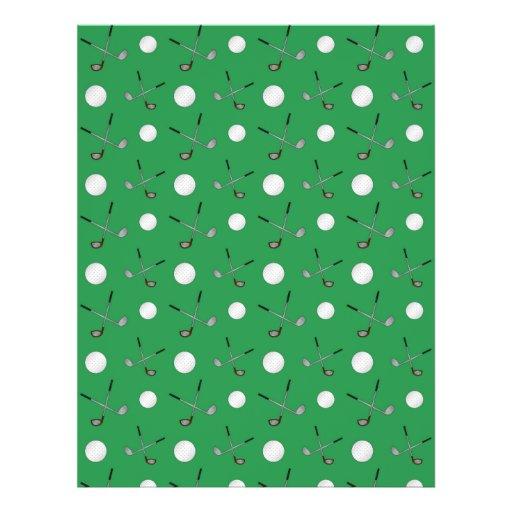 Green golf pattern flyers