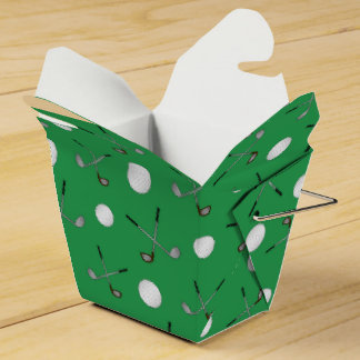 Green golf pattern party favour box