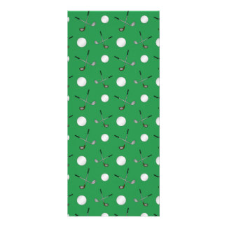 Green golf pattern full color rack card