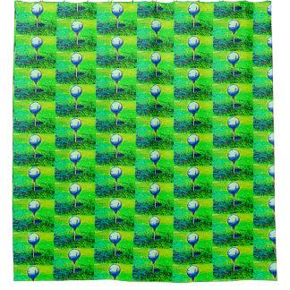 Green Golf themed Shower Curtain