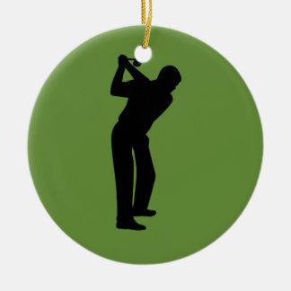 Green Golfer Custom Golfing Christmas Ornament