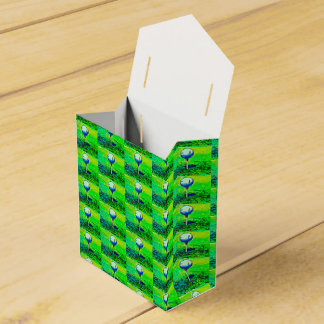 Green Golfing Tiled Favor Boxes Favour Box