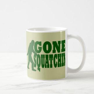Green gone squatchin slogan text basic white mug