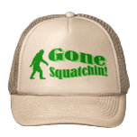 Green gone squatchin slogan text cap