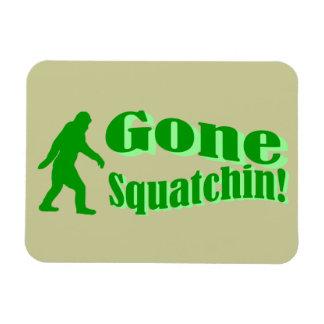 Green gone squatchin slogan text flexible magnets