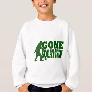 Green gone squatchin slogan text sweatshirt