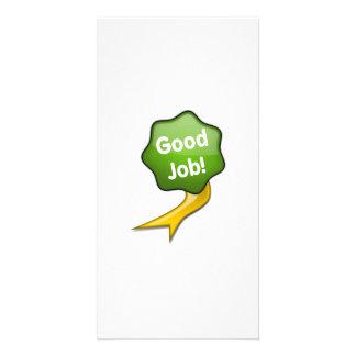 Green Good Job Ribbon Personalized Photo Card