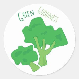 Green Goodness Round Sticker