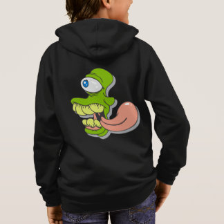 Green Goofy Cyclops Monster Horror Scary Creature Hoodie