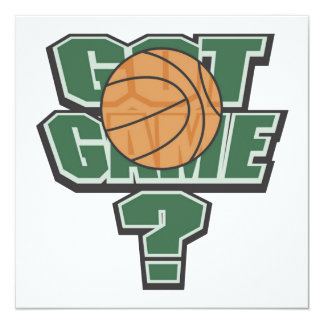 Green Got Game? T-shirts and Gifts 13 Cm X 13 Cm Square Invitation Card