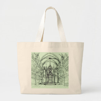 Green gothic Orensanz drawing Canvas Bags