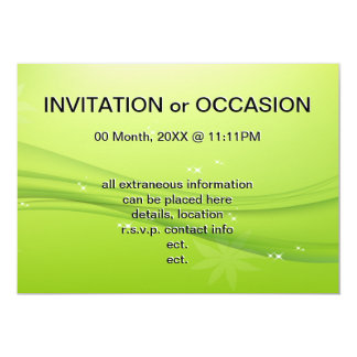 green grace 13 cm x 18 cm invitation card
