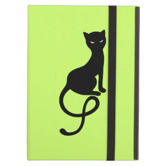 Green Gracious Evil Black Cat Folio iPad Air Cover