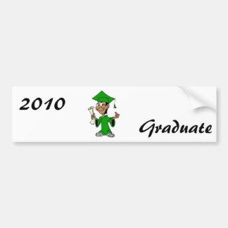 Green Grad Car Bumper Sticker