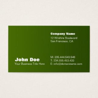 Green Gradient Custom Business Card Template