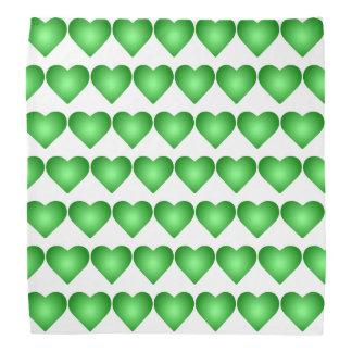 Green Gradient Hearts Do-rag
