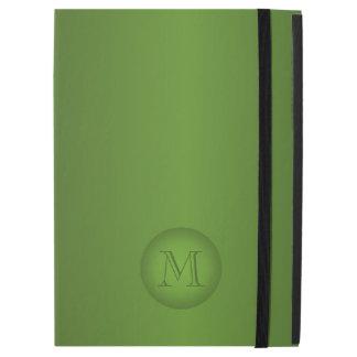 "Green Gradient Monogram iPad Pro 12.9"" Case"