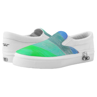Green Gradient Printed Shoes