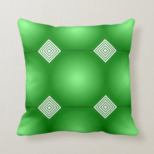 Green Gradient With White Stripes Cushion
