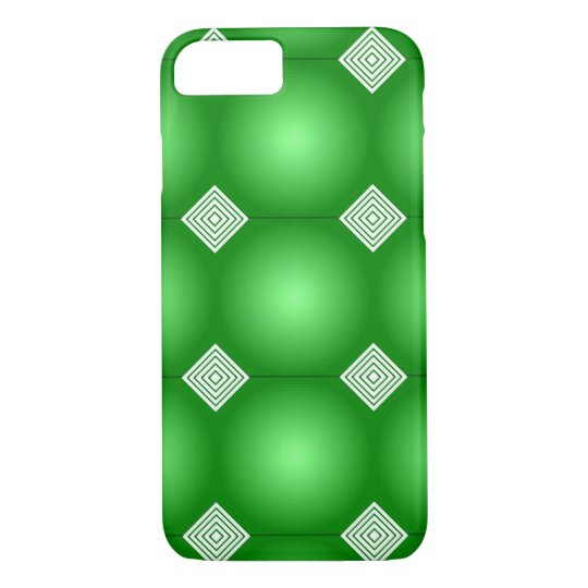 Green Gradient With White Stripes iPhone 7 Case