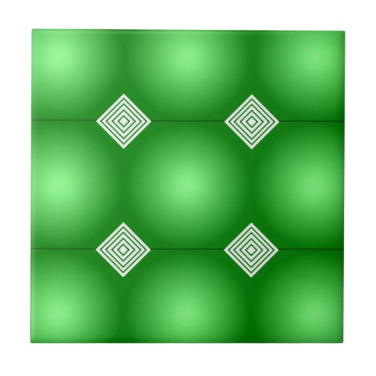 Green Gradient With White Stripes Small Square Tile