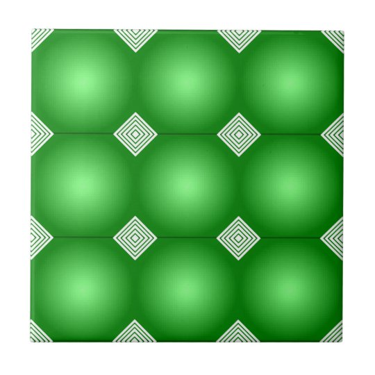 Green Gradient With White Stripes Tile