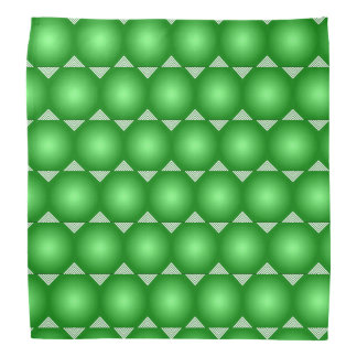 Green Gradient With White Triangles Pattern Kerchiefs