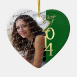 Green Graduation Class of 2014 Ornament