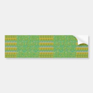 Green Graffiti Confetti n Crystal Bead Stone Patch Bumper Stickers