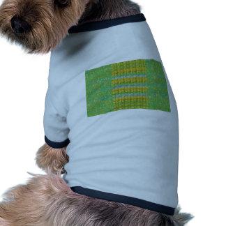 Green Graffiti Confetti n Crystal Bead Stone Patch Dog Shirt