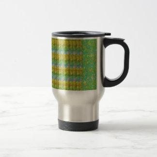 Green Graffiti Confetti n Crystal Bead Stone Patch Mug