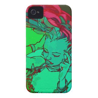 Green graffiti girl iPhone 4 cover