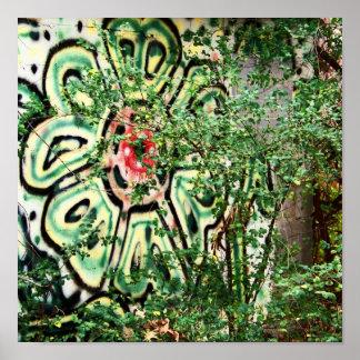 Green Grafitti Poster