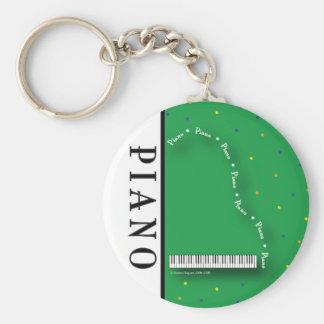 Green Grand Piano Keychain