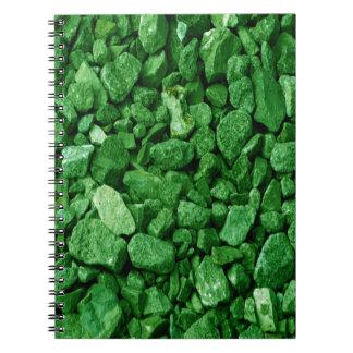 Green Granite Rock Notebooks