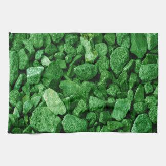 Green Granite Rock Tea Towel