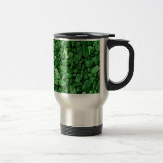 Green Granite Rock Travel Mug