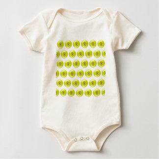 Green Granny Smith Apples Seamless Background Baby Bodysuit