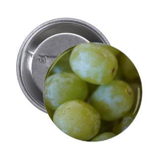 Green Grapes 6 Cm Round Badge