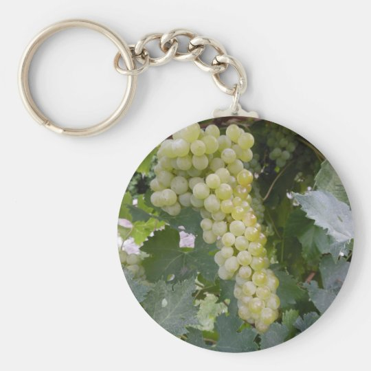Green Grapes Basic Round Button Key Ring