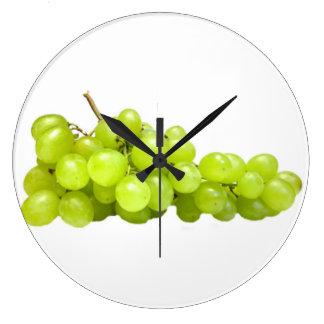 """Green grapes"" design wall clocks"