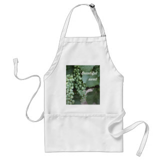 Green Grapes Growing Adult Apron