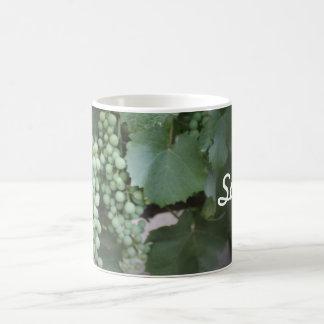 Green Grapes Growing Basic White Mug