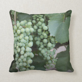 Green Grapes Growing Pillow