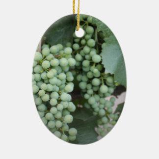 Green Grapes Growing Christmas Ornaments
